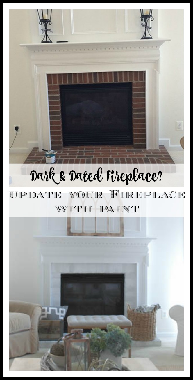 how-to-update-dark-brick-fireplace-with-paint