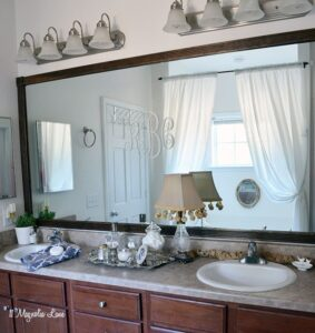 Easy DIY for Renters: Trim a Giant Mirror | 11 Magnolia Lane
