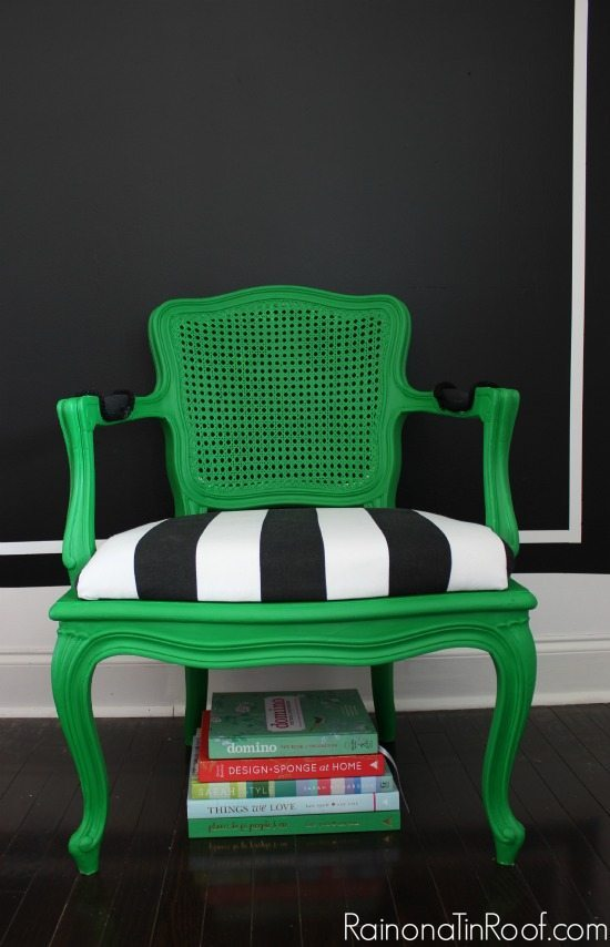 green-chair-makeover