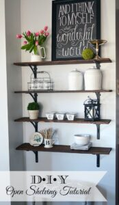 Tutorial for easy DIY open shelving | 11 Magnolia Lane