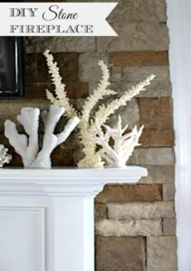 DIY Fireplace Makeover with Stacked Stone