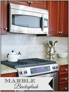 Kitchen Makeover--New Carrara Marble Backsplash