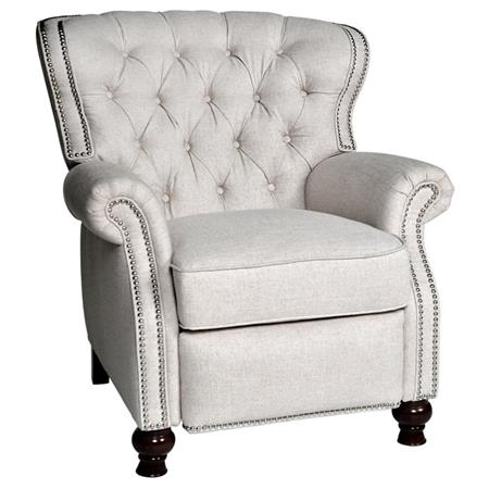 Chic and stylish recliner with nailhead trim and tufted back | 11 Magnolia Lane