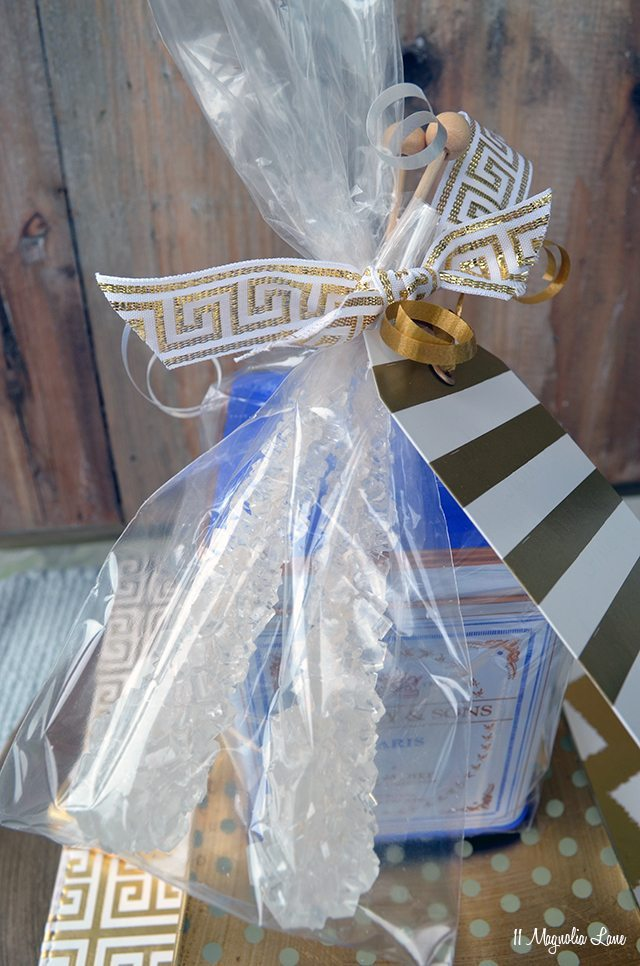Harney & Sons Tea and rock candy swizzle sticks--great gift idea | 11 Magnolia Lane
