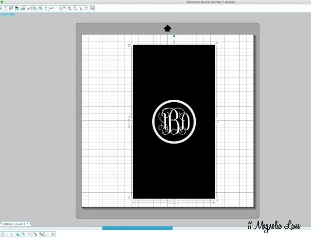 "How to create a ""vines"" vinyl monogram 