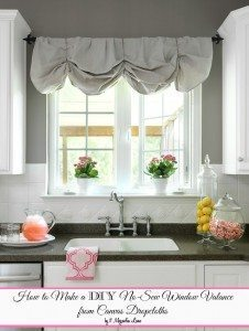 How to Make a No-Sew DIY Window Valance From Canvas Dropcloths | 11 Magnolia Lane