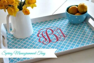 Easy DIY--personalize an inexpensive IKEA tray for spring entertaining