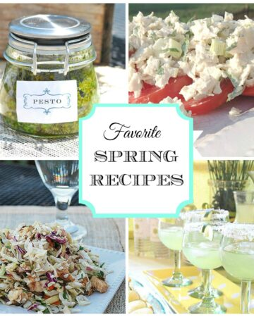 Easy Spring Recipes & Entertaining Ideas