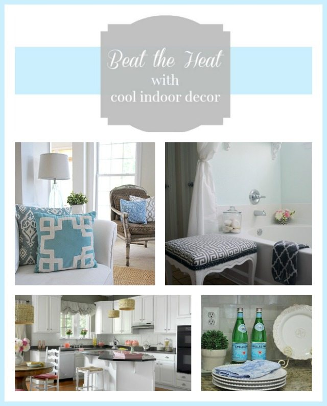 ways to use cool colors and stay cool during hot months with your interior decor