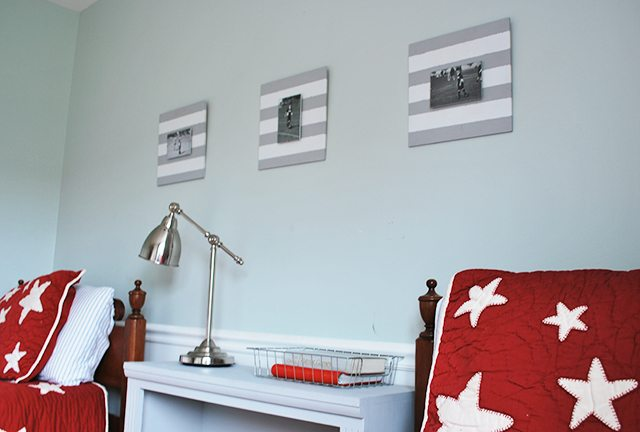 diy-painted-striped-frames