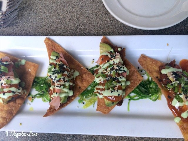 Sushi nachos Black Marlin
