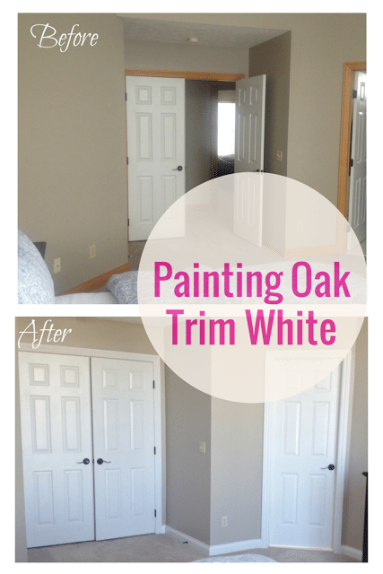 How to paint oak trim