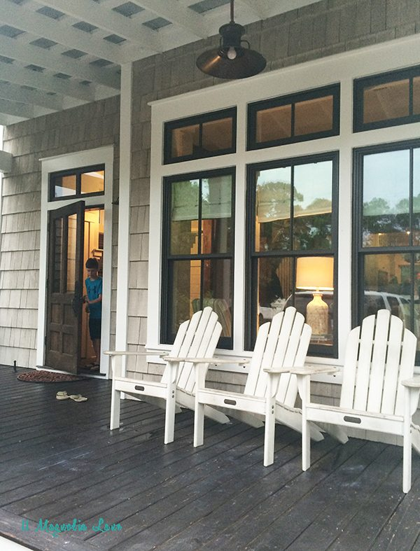 "Tour a new beach house with that ""old"" house feeling"