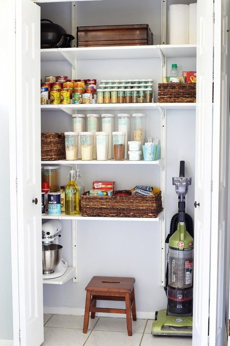 Organized pantry from Just A Girl and Her Blog