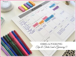 A great way to stay organized for the week.