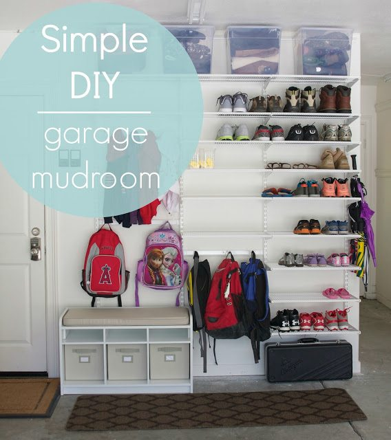 garage mudroom simply organized