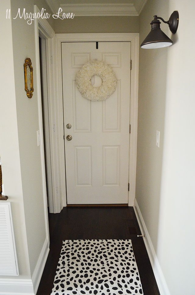 Black and white dalmatian spot rug | 11 Magnolia Lane
