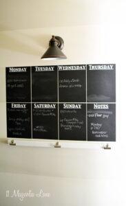 DIY chalkboard wall calendar | 11 Magnolia Lane