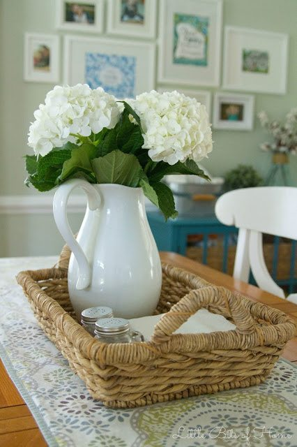 basket tray centerpiece