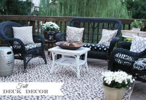 Fall Deck Makeover {on a budget!}