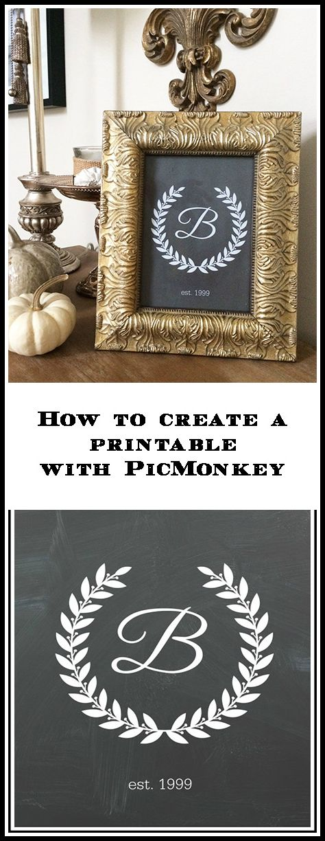 How to use PicMonkey to create printables and edit photos tutorial.