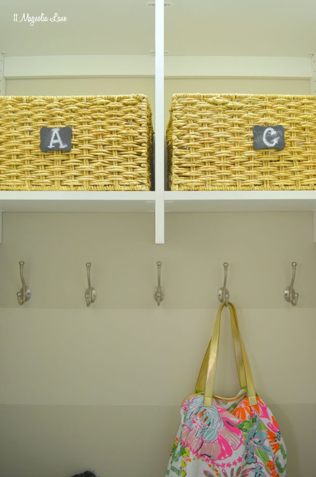 DIY closet turned mudroom for renters | 11 Magnolia Lane