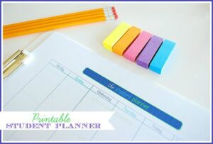 Printable Student Planner--help organize their entire week for fewer meltdowns and less stress while teaching organizational skills.