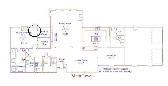lower level floor plan-bedroom