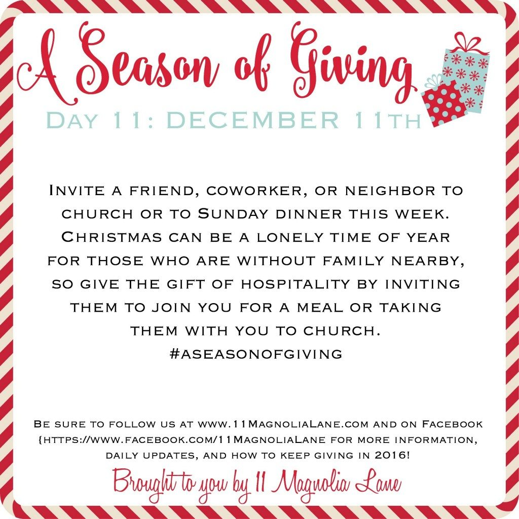 A Season of Giving: Day 11