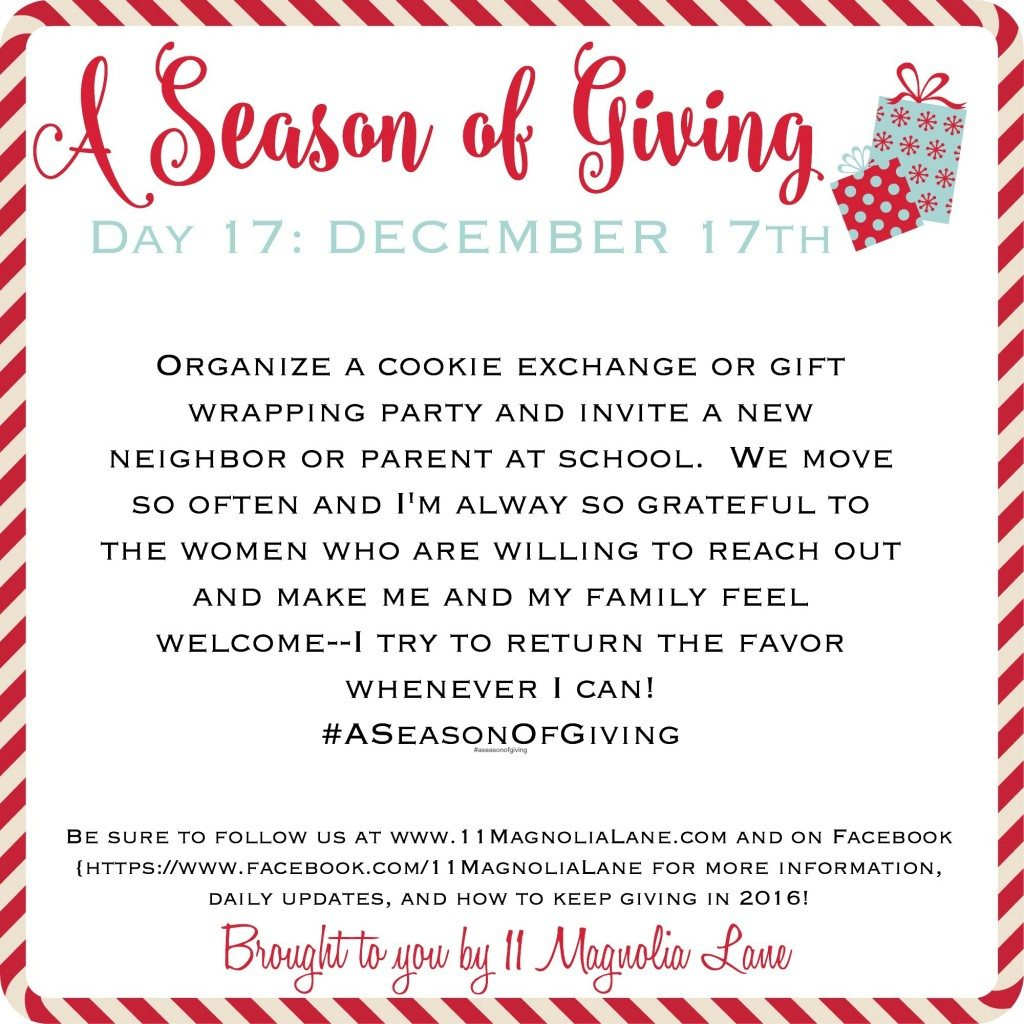 A Season of Giving: Day 17