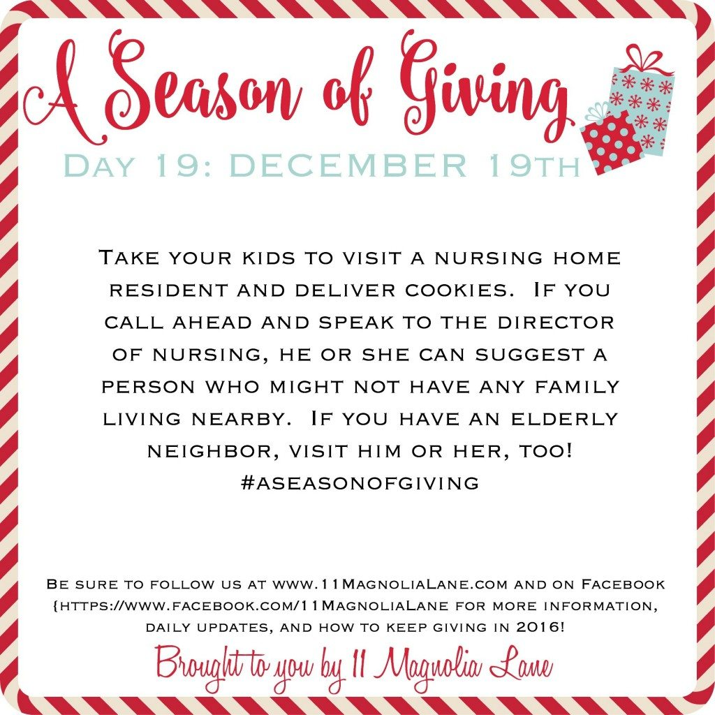 A Season of Giving: Day 19
