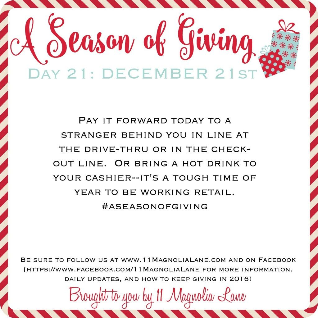 A Season of Giving: Day 21