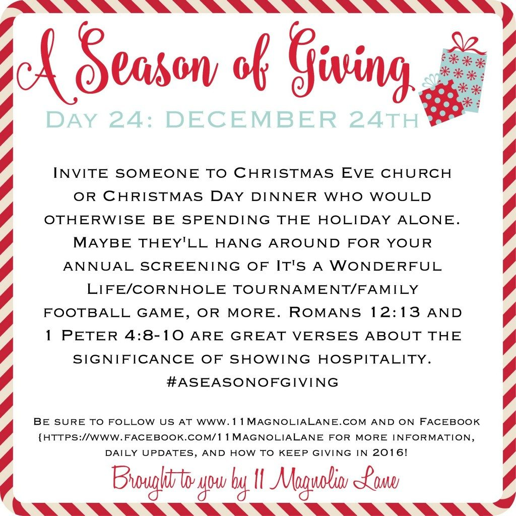 A Season of Giving: Day 24