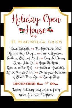 Holiday Open House at 11 Magnolia Lane--daily holiday inspiration from your favorite home bloggers