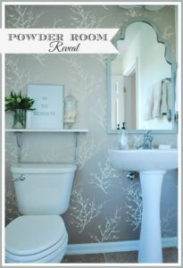 One Room Challenge--Powder Room REVEAL!