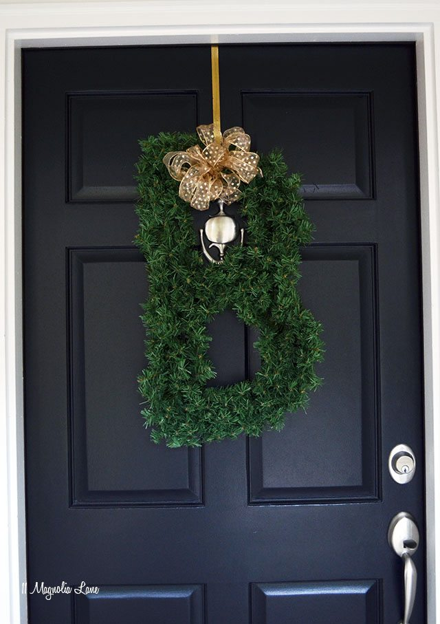 "alt=""Front porch Christmas decor 