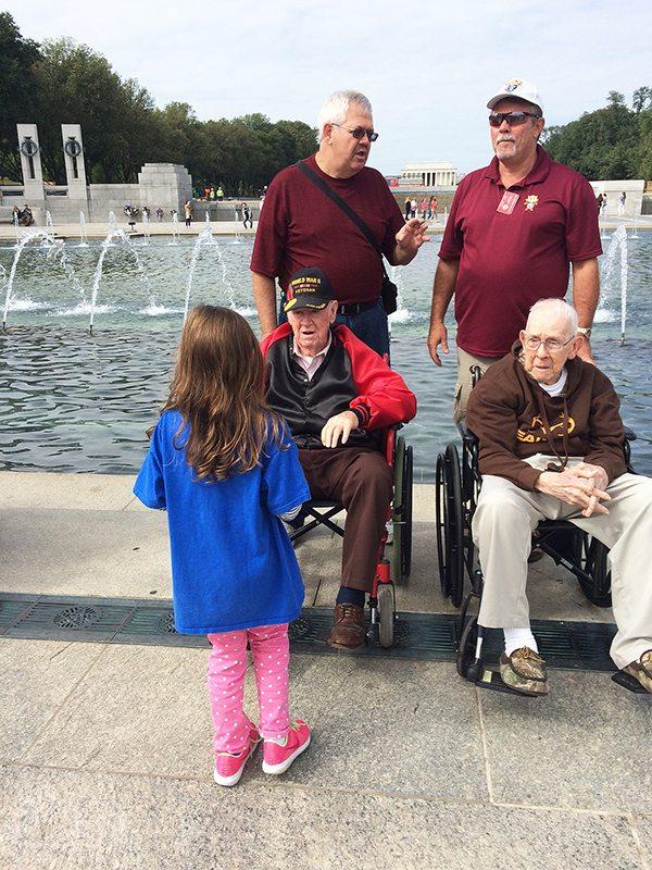 veterans at memorial