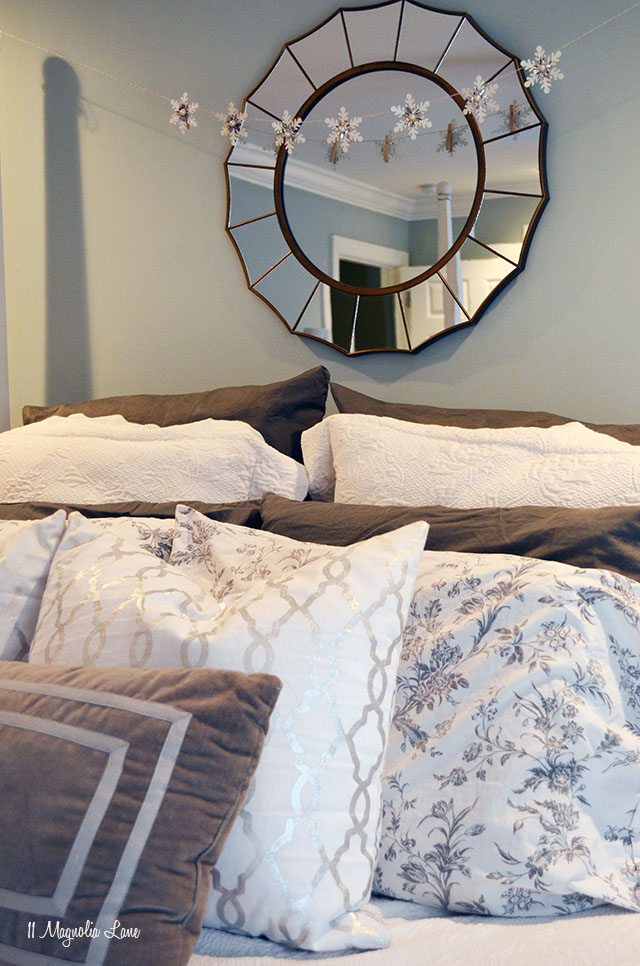 Master bedroom refresh in soothing blue grays | 11 Magnolia Lane