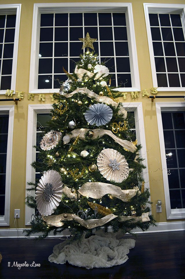 Gold, white, silver Christmas tree | 11 Magnolia Lane
