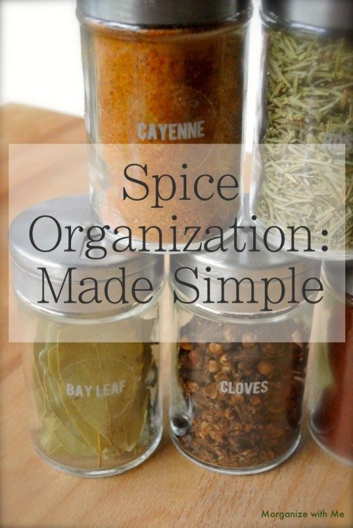 Keep your kitchen organized and your spices labeled and up to date, it's easy if you focus on a basic core of spices that you use over and over again. See printable list and easy storage options here.