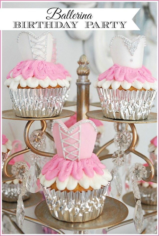 A sweet and simple ballerina girls birthday party with a ballet/nutcracker theme