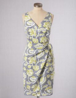 Boden Portofino Dress Grey Yellow