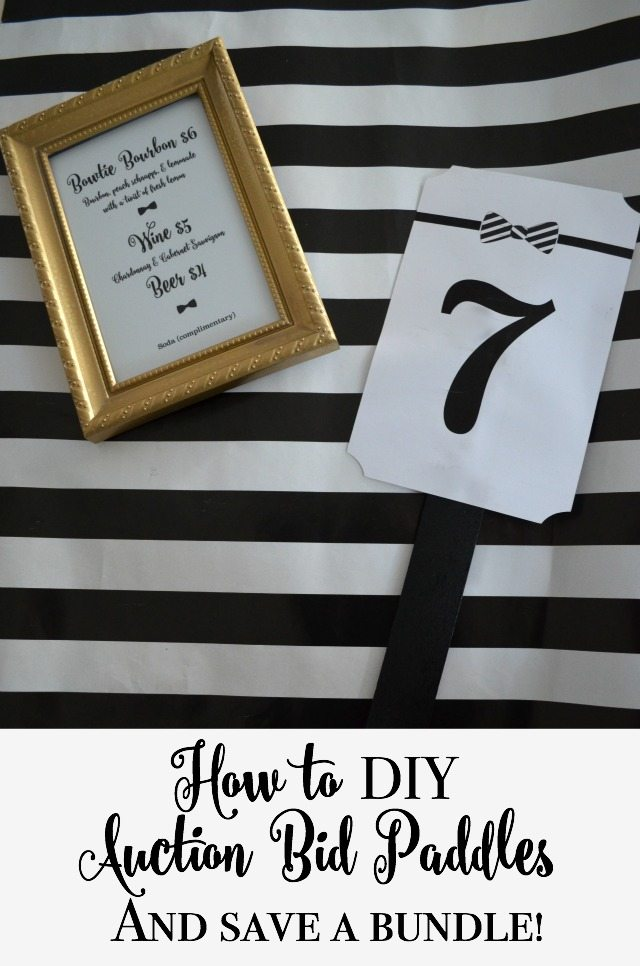 How to DIY an auction bid paddle using your Silhouette (tutorial) | 11 Magnolia Lane