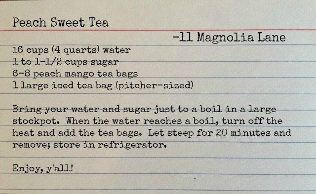 Peach sweet tea recipe | 11 Magnolia Lane