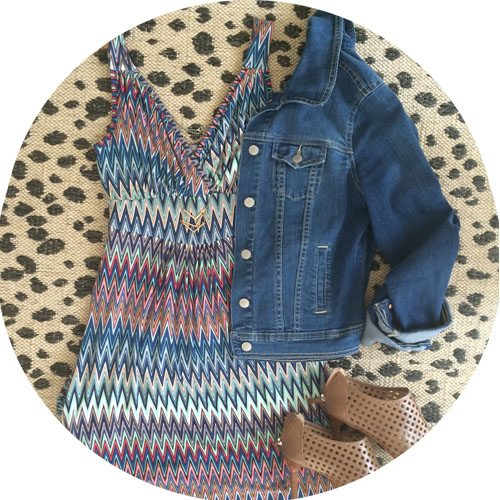 chevron-dress-jean-jacket