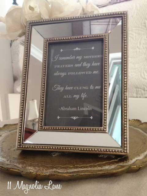 Framed quote Mother's Day printable
