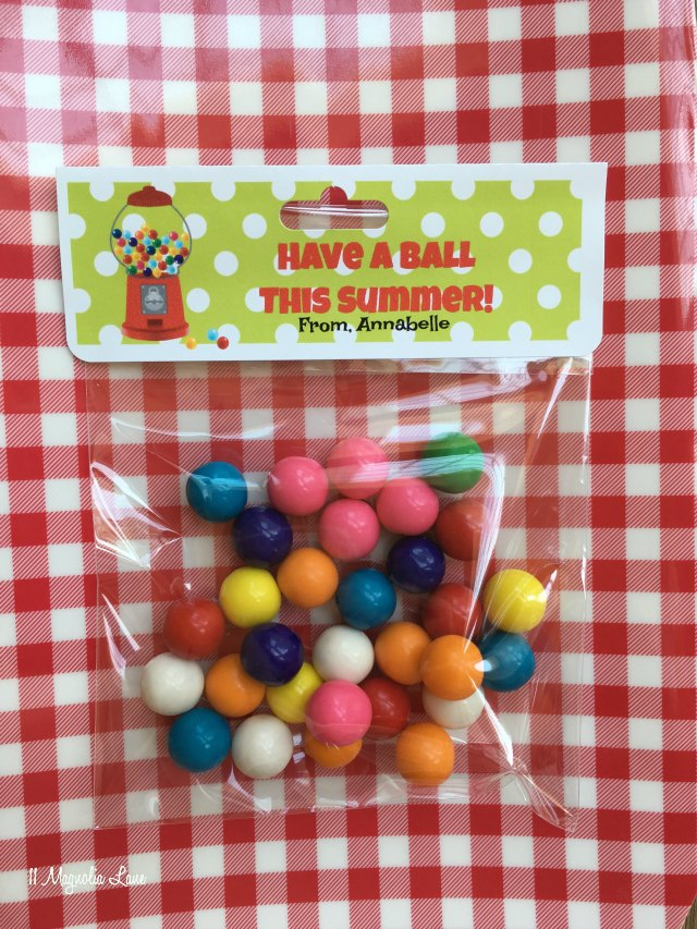 """""""Have a Ball"""" end of school year class gift 