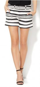 Black and white striped shorts | 11 Magnolia Lane
