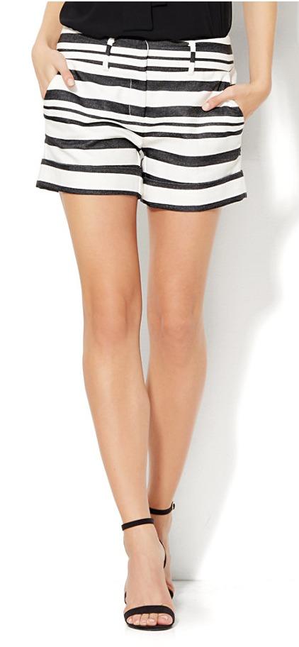 Black and white striped shorts   11 Magnolia Lane