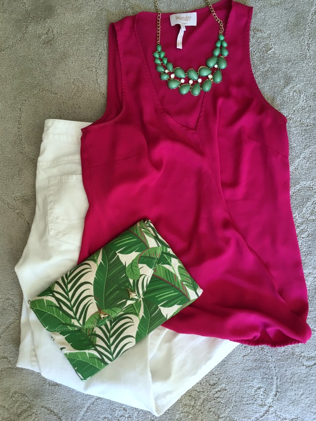 Stella & Dot Palm Clutch Outfit Idea | 11 Magnolia Lane